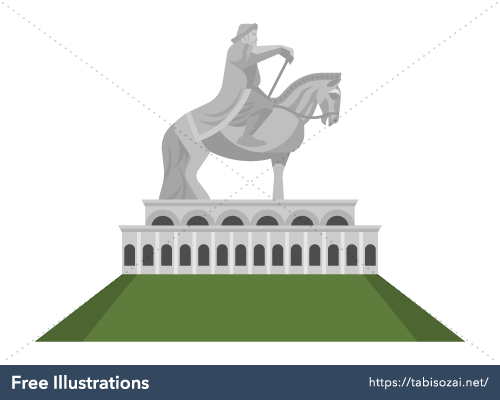 Genghis Khan Statue Complex Free Vector Illustration