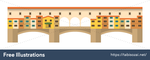 Ponte Vecchio Free PNG Illustration
