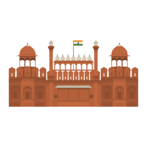 Red Fort Free PNG Illustration