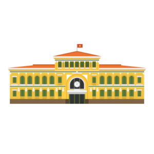 Saigon Central Post Office Free PNG Illustration