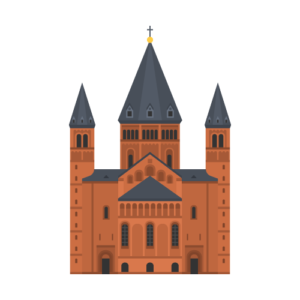 Mainzer Dom Free PNG Illustration