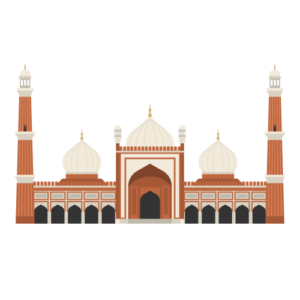 Jama Masjid Free PNG Illustration