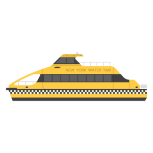 New York Water Taxi Free PNG Illustration