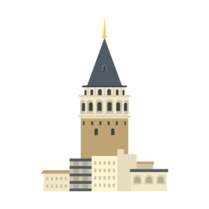 Galata Tower Free PNG Illustration