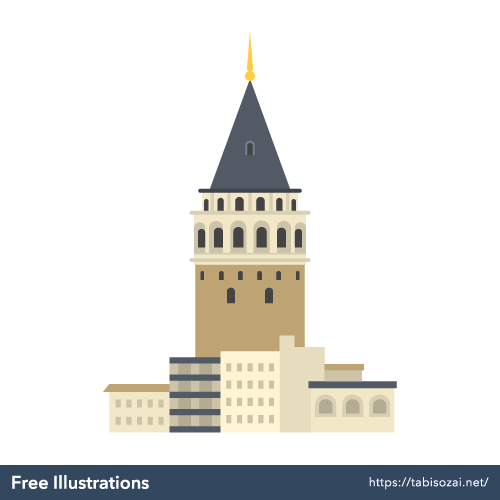 Galata Tower Free Illustration