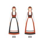 フィンランドの民族衣装 Illustration