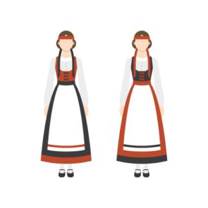 フィンランドの民族衣装の無料イラスト素材