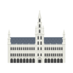 Brussels Town Hall Illustration