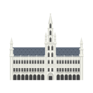 Brussels Town Hall Free PNG Illustration