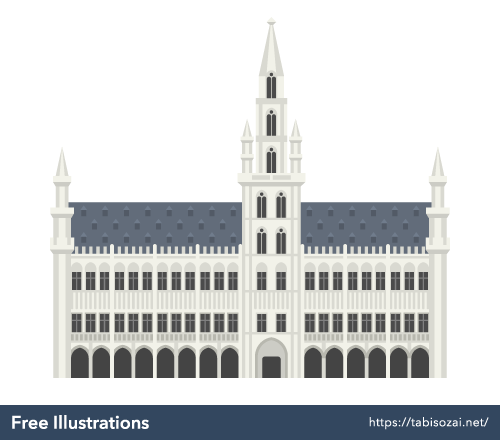 Brussels Town Hall Free Illustration