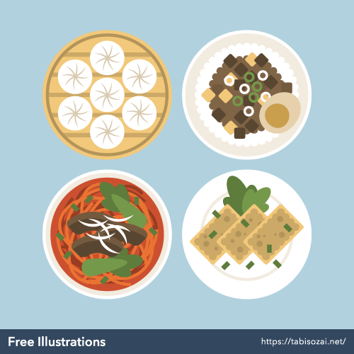 Taiwanese cuisine Free Illustration