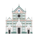 Basilica di Santa Croce Illustration