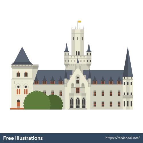 マリエンブルク城の無料イラスト素材
